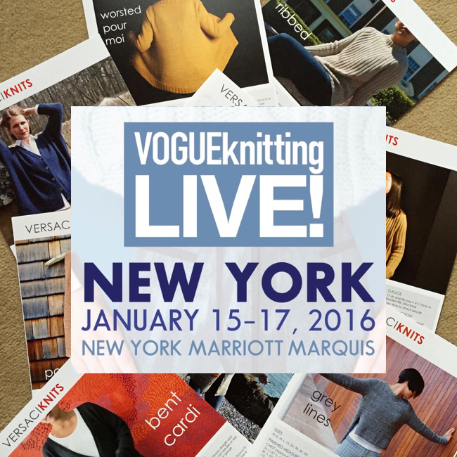 Come see us at Vogue Knitting Live NYC!